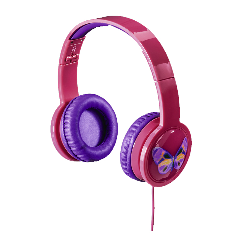 Casti stereo over the ear Blink'n Kids Hama, cu fir, plastic, 30 mm, 1.2 m, Roz 2021 shopu.ro
