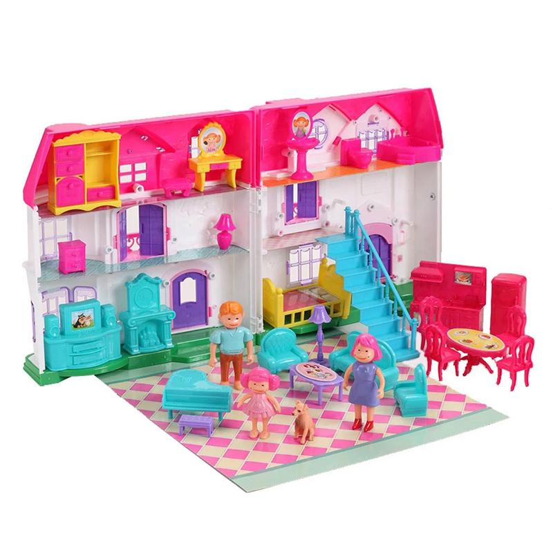 Casuta cu papusi Dreamy Dollhouse, 30 accesorii, multicolor 2021 shopu.ro