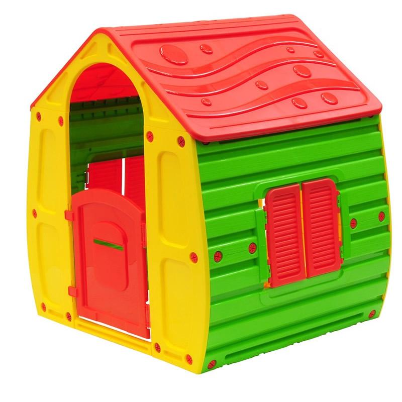 Casuta pentru copii, plastic, 102 x 90 x 109 cm, multicolor 2021 shopu.ro