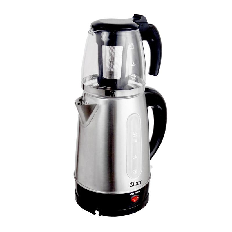 Ceainic electric Floria, capacitate 1.7 l + 0.9 l filtru pentru ceai, 2200 W