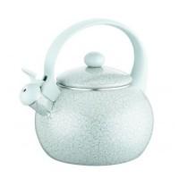Ceainic din email cu fluier Peterhof, 2 l, inductie, verde