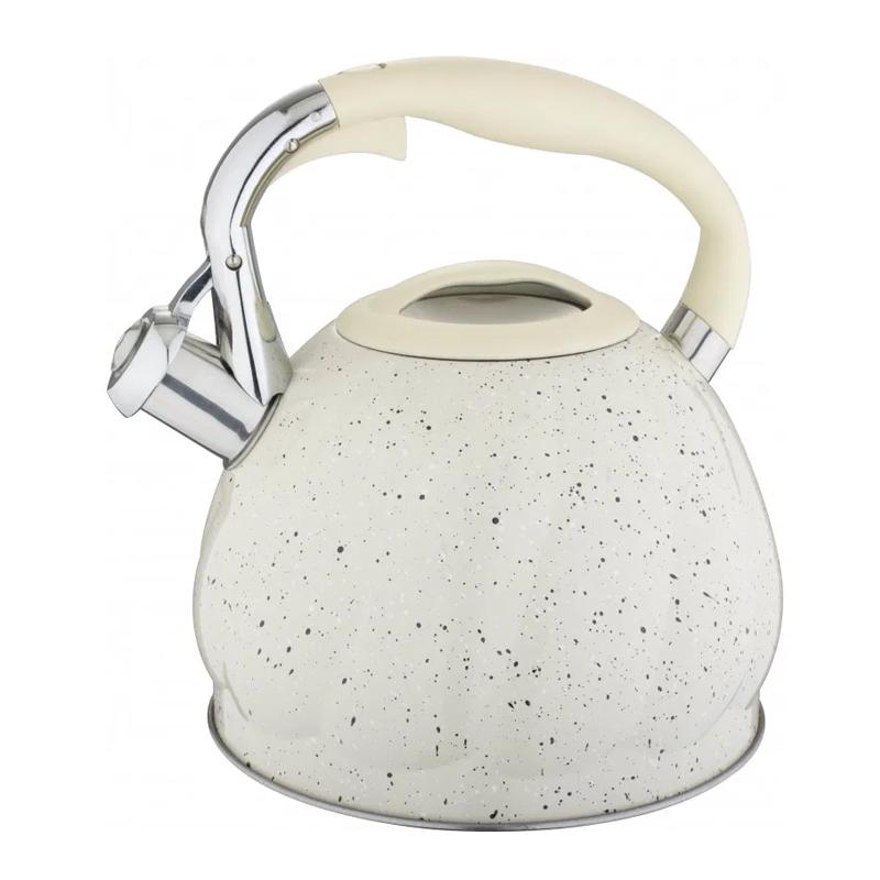 Ceainic inox Bohmann, 3 l, avertizare sonora, Alb 2021 shopu.ro