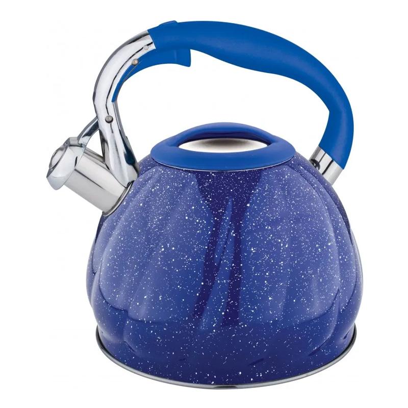 Ceainic inox Bohmann, 3 l, avertizare sonora, Albastru 2021 shopu.ro