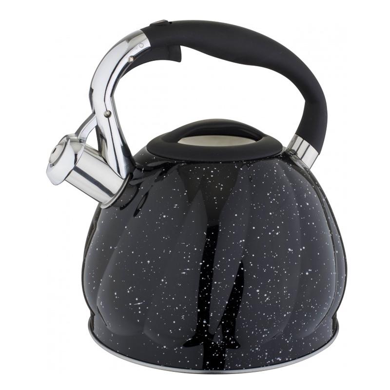 Ceainic inox Bohmann, 3 l, avertizare sonora, Negru 2021 shopu.ro