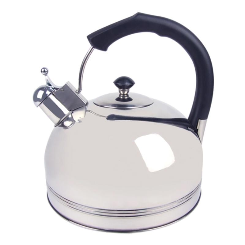 Ceainic inox cu fluier Bohmann, 3 l, avertizare sonora, Argintiu/Negru 2021 shopu.ro
