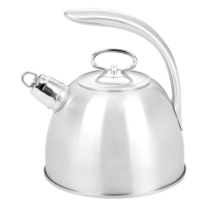 Ceainic inox cu fluier Bohmann, 3 l, avertizare sonora, finisaj lucios, Argintiu 2021 shopu.ro