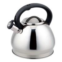 Ceainic inox cu fluier Bohmann, 3 l, avertizare sonora, Argintiu