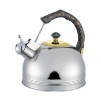 Ceainic inox cu fluier Bohmann, 3 l, maner plastic