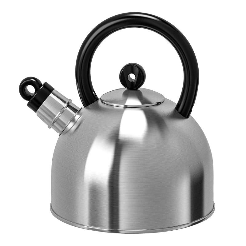 Ceainic inox cu fluier, capacitate 2 l, gri 2021 shopu.ro