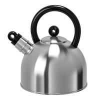 Ceainic inox cu fluier, capacitate 2 l, gri