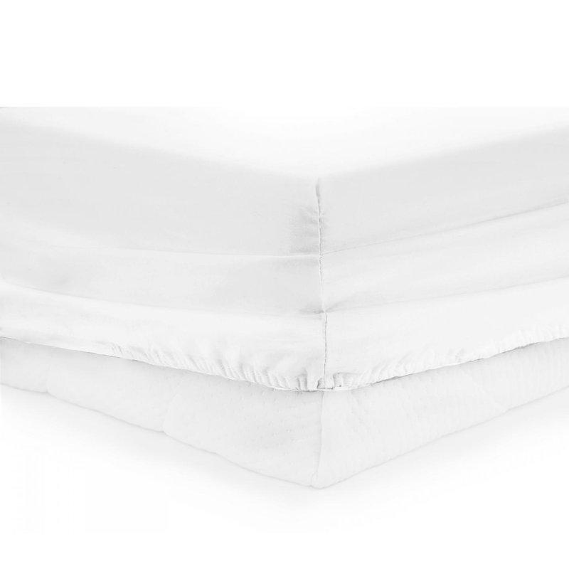 Cearceaf Pat Heinner, 140 x 200 cm, bumbac, densitate 144 TC, elastic, Alb shopu.ro