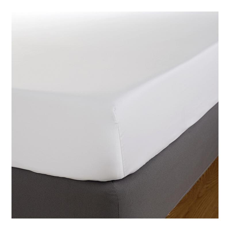 Cearceaf cu elastic Behrens England, 180 x 200 cm, bumbac, 600TC, Alb 2021 shopu.ro