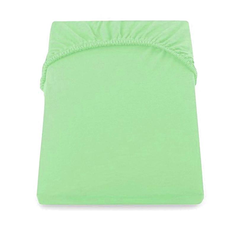 Cearceaf de pat cu elastic Yuny Mally Home, 160 x 200 + 28 cm, bumbac, Verde