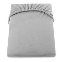 Cearceaf de pat cu elastic Yuny Mally Home, 160 x 200 + 28 cm, bumbac, Gri