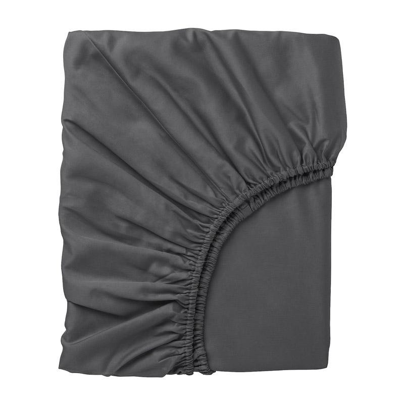 Cearsaf bumbac satinat cu elastic, 90 x 200 cm, Gri 2021 shopu.ro
