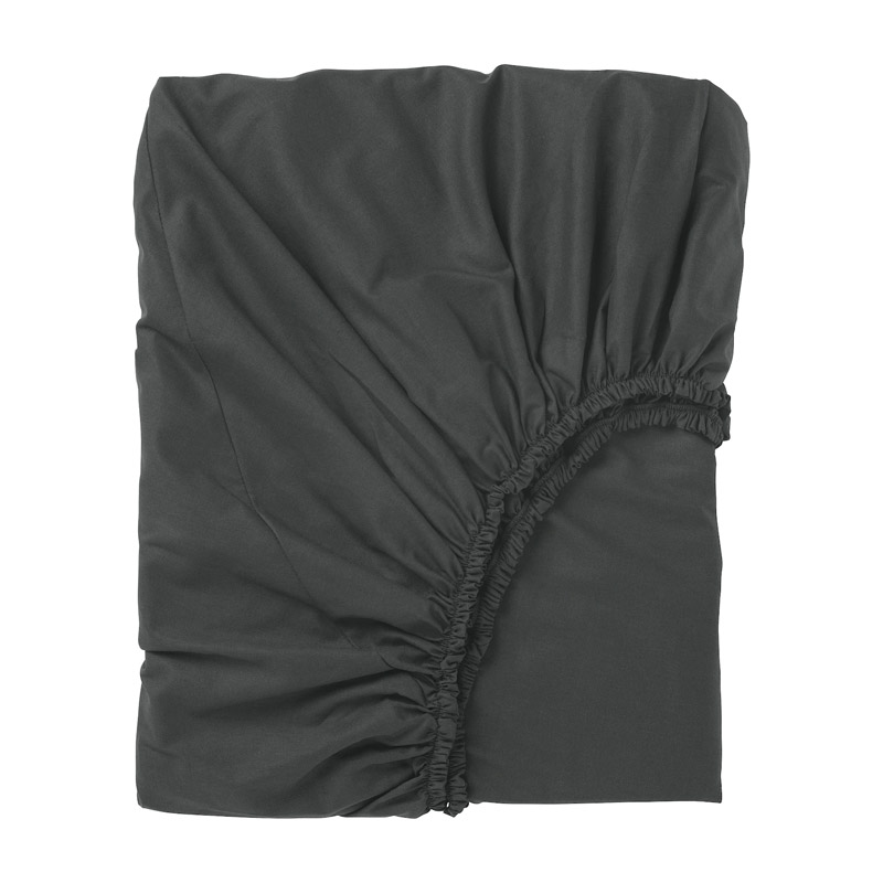 Cearsaf cu elastic, 140 x 200, material bumbac, Negru 2021 shopu.ro