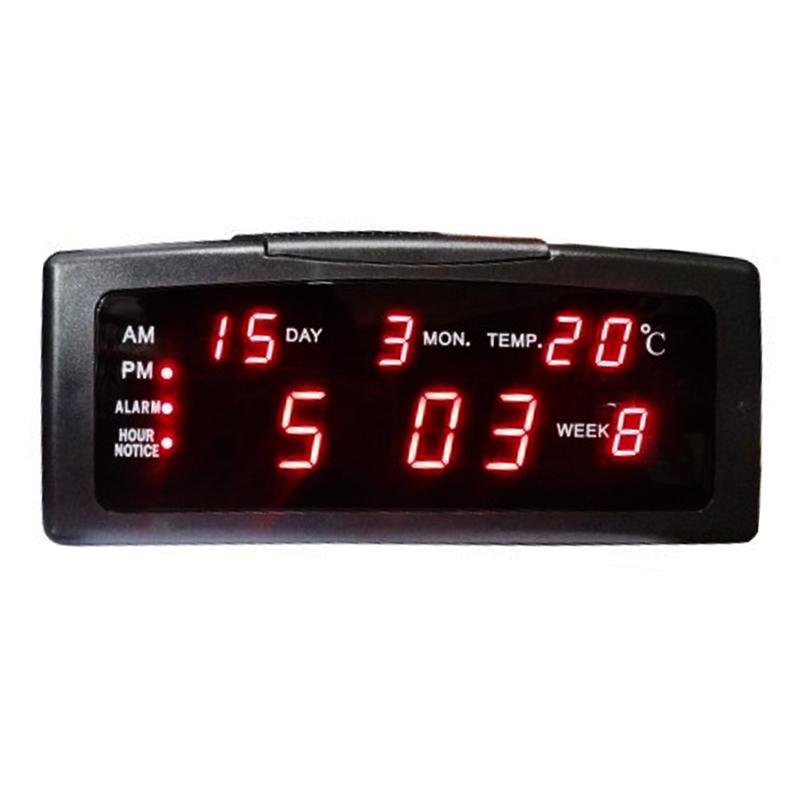 Ceas birou cu calendar ZXTL-13A, LED, Negru 2021 shopu.ro