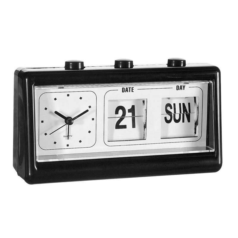 Ceas cu calendar, 19 x 10 cm, Negru 2021 shopu.ro