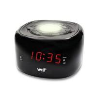 Radio cu ceas si lumina ambientala Twilight Well, afisaj LED rosu