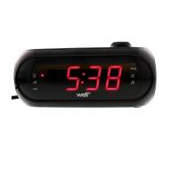 Radio cu ceas si proiectie Awake Well, 2 x AAA, negru
