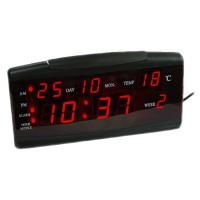 Ceas birou cu calendar ZXTL-13B, LED, Negru