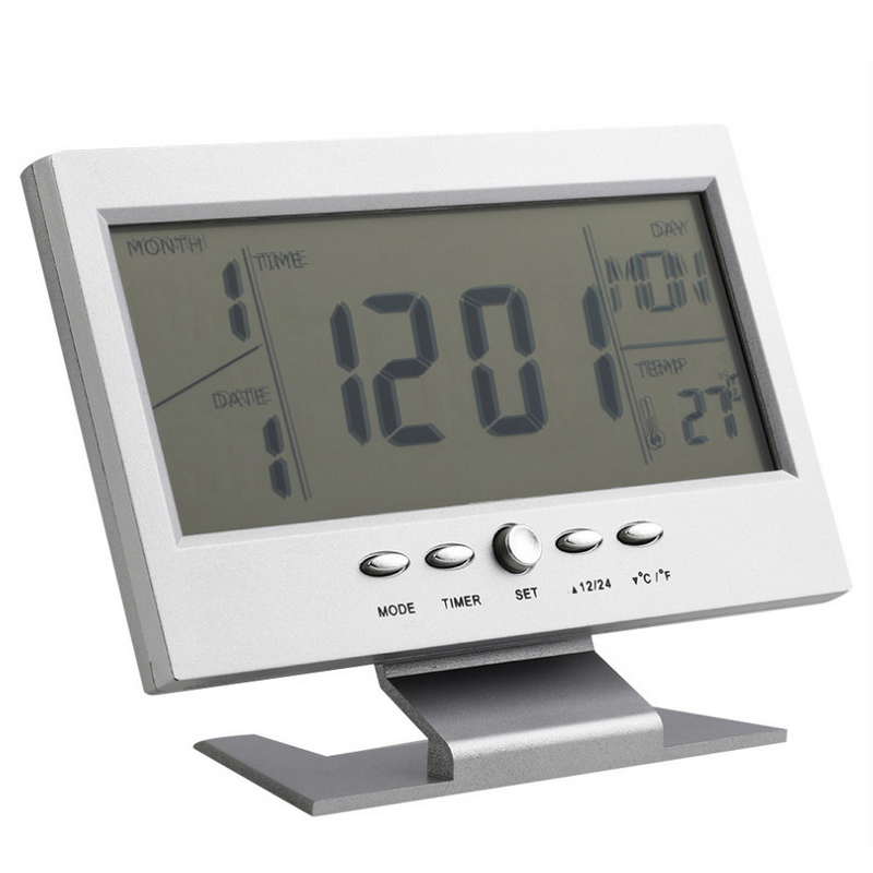 Ceas de birou, LCD, control vocal