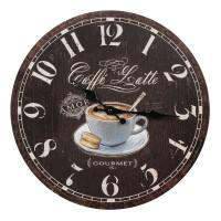 Ceas de perete Coffe Latte Gourmet, 34 cm