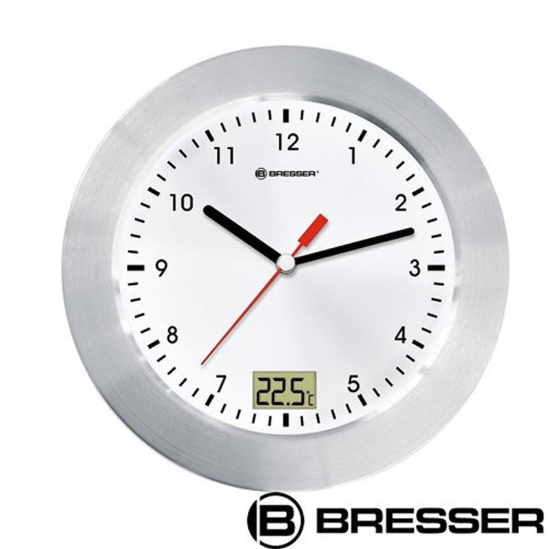 Ceas de perete cu termometru Bresser, cadran alb 2021 shopu.ro
