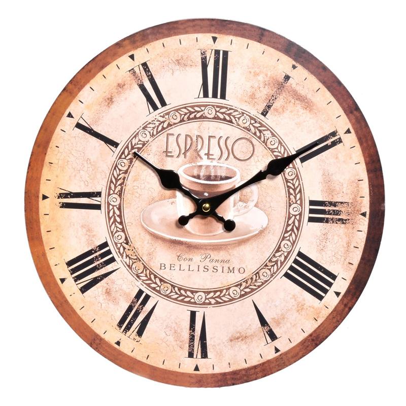 Ceas de perete, 33 cm, model espresso