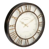 Ceas decorativ de perete, 40 cm, mesaj Time to Scratch