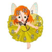 Ceas decorativ pentru camera copiilor, 33 x 24 cm, model zana