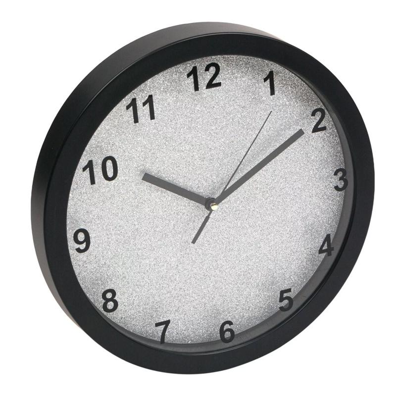 Ceas decorativ pentru perete, 31 cm, model sclipici 2021 shopu.ro