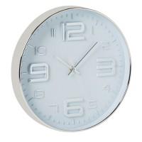 Ceas decorativ pentru perete Silver, 30 cm, plastic, Argintiu
