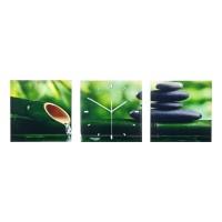 Ceas decorativ tip tablou, 30 x 90 cm, model bamboo