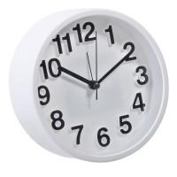 Ceas desteptator, 13 cm, Alb