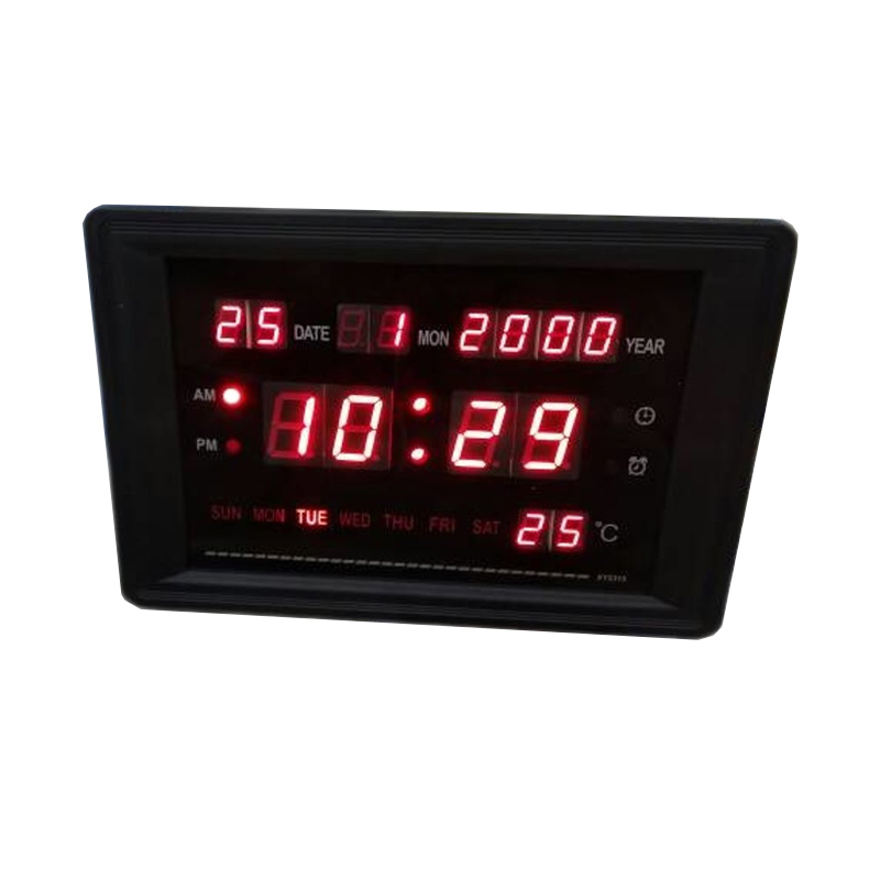Ceas digital 2315, LED rosu, afisare temperatura, calendar 2021 shopu.ro