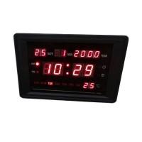 Ceas digital 2315, LED rosu, afisare temperatura, calendar