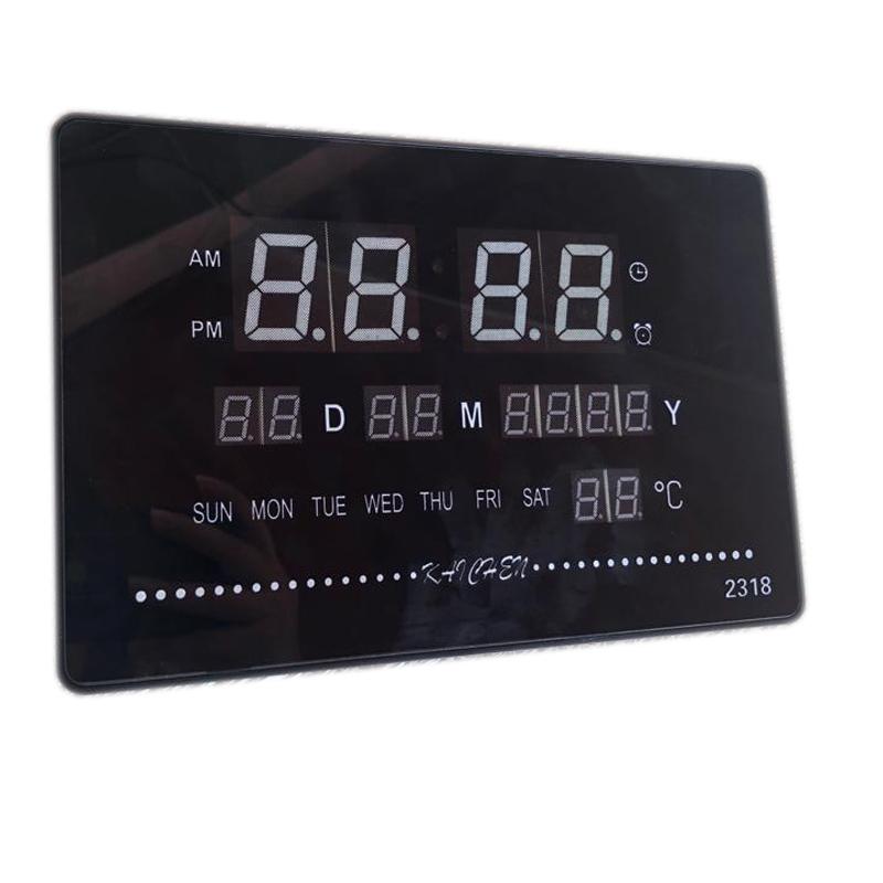 Ceas digital 2318, LED verde, afisare temperatura, calendar 2021 shopu.ro