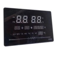 Ceas digital 2318, LED verde, afisare temperatura, calendar