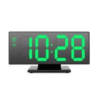 Ceas digital cu oglinda DS-3618L, USB, temperatura, LED verde