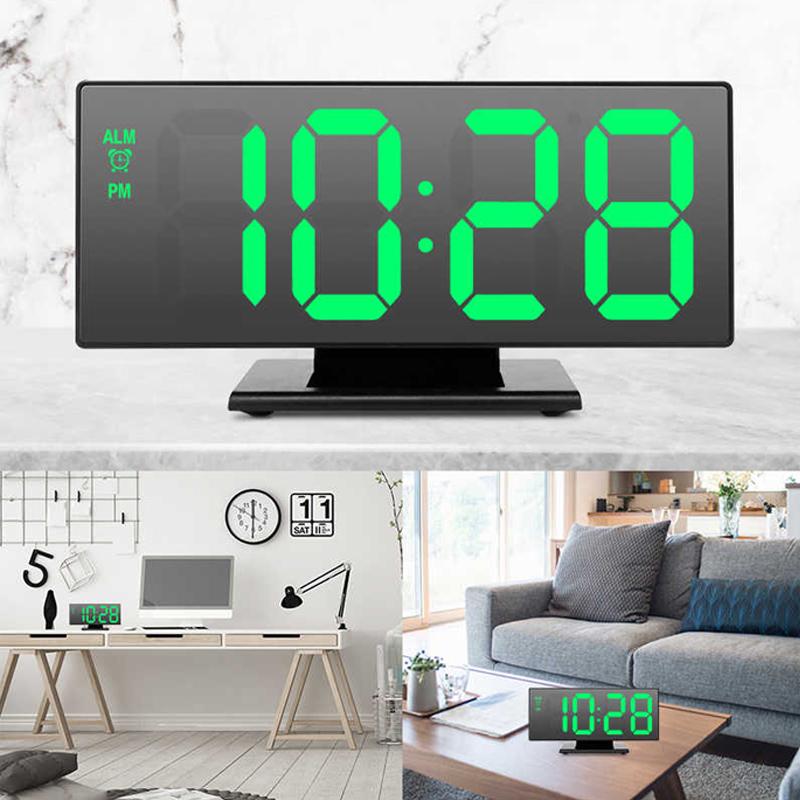 Ceas digital cu oglinda DS-3618L, USB, temperatura, LED alb