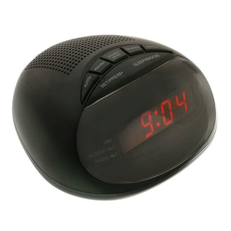 Ceas digital cu radio Happy Sheep 316P, LED, Negru 2021 shopu.ro