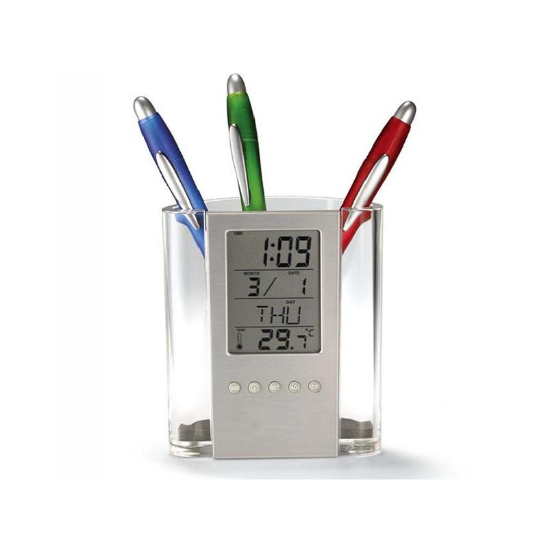 Ceas si termometru cu suport pentru pixuri 2021 shopu.ro