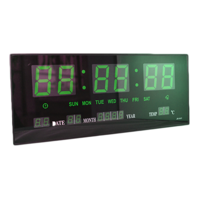 Ceas digital de perete 3615, alarma, LED verde 2021 shopu.ro