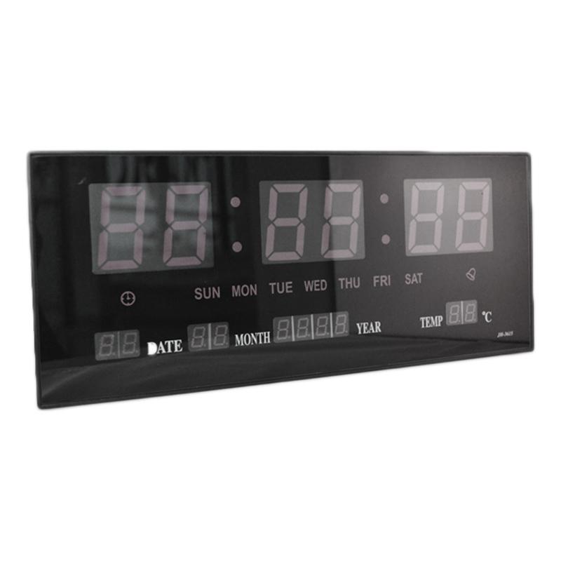 Ceas digital de perete 3615, alarma, LED alb 2021 shopu.ro