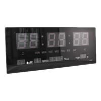 Ceas digital de perete 3615, alarma, LED alb