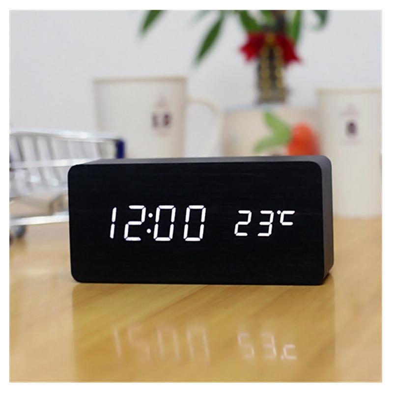 Ceas digital lemn VST-862, LED, alarma