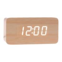 Ceas digital lemn VST-863, LED, alarma