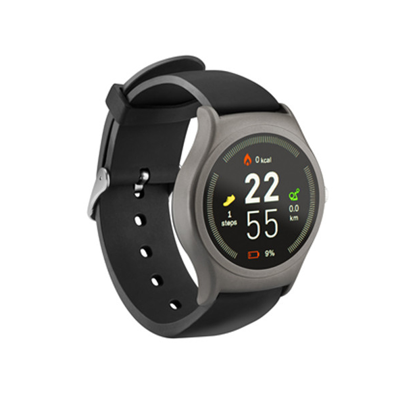 Ceas smartwatch Acme SW201, HR, display digital, microfon integrat, Negru/Gri 2021 shopu.ro