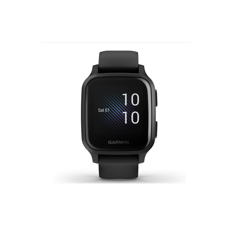 Ceas smartwatch Garmin Venu Sq Music Edition, GPS, Bluetooth, Heart Rate Sensor, Waterproof, 5 ATM, Android, iOS, aluminiu, Black